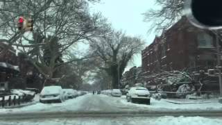 Crown Heights, Brooklyn Blizzard 2015