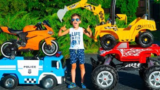 Artem and Biggest Cars Collection Video for Kids