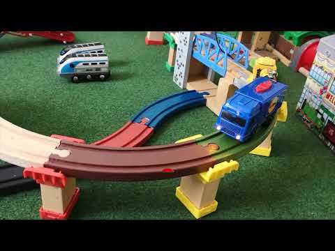 Build & Play Train, Thomas Building Block,Toys, Crane, Conveyor, Boat, Space, Wooden Train,for Kids