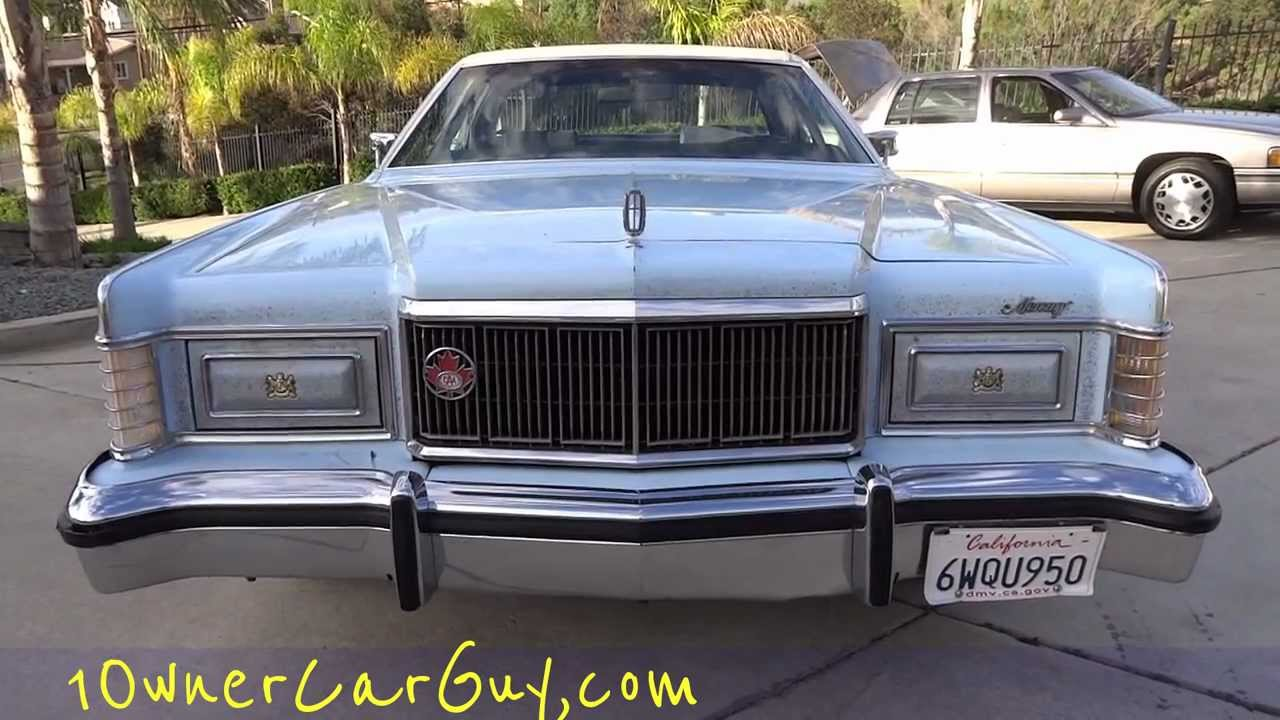 1978 Mercury Grand Marquis Video 1 Owner 6 6l 400 V8 Clic Youngtimer Lincoln Town Car Ford Sedan You