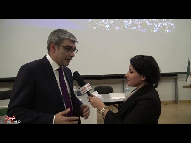 گفت و گوی شهروند با  رضا پیرزاده در همایش جامعه مدنی ایران و راهی به سوی دمکراسی
