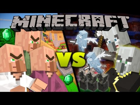 Thumbnail: Villagers vs. Illagers - Minecraft