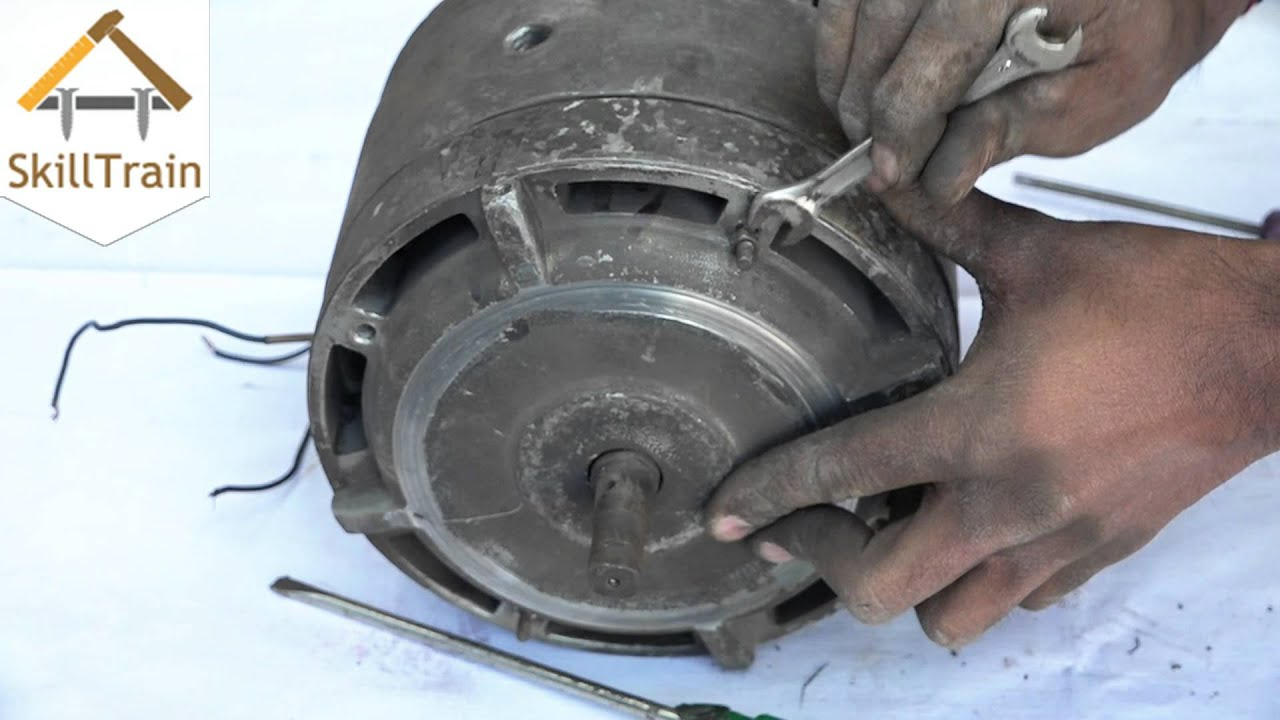 Dismantling a three-phase motor (Hindi) (हिन्दी) - YouTube