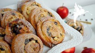 Apfel Rosinen Schnecken - herbstliche Apfelrollen selber machen - Kuchenfee CC