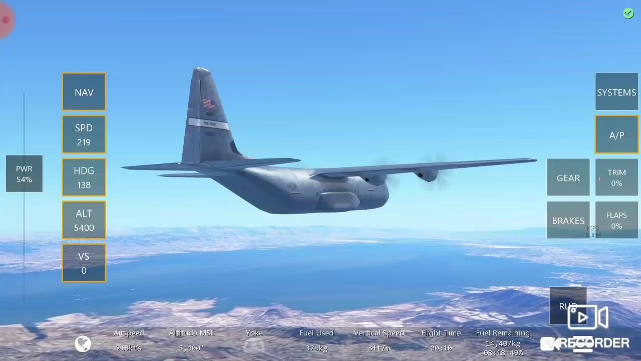 Infinite flight : c130j 30 máy bay vận tải của quân đội không quân Mỹ