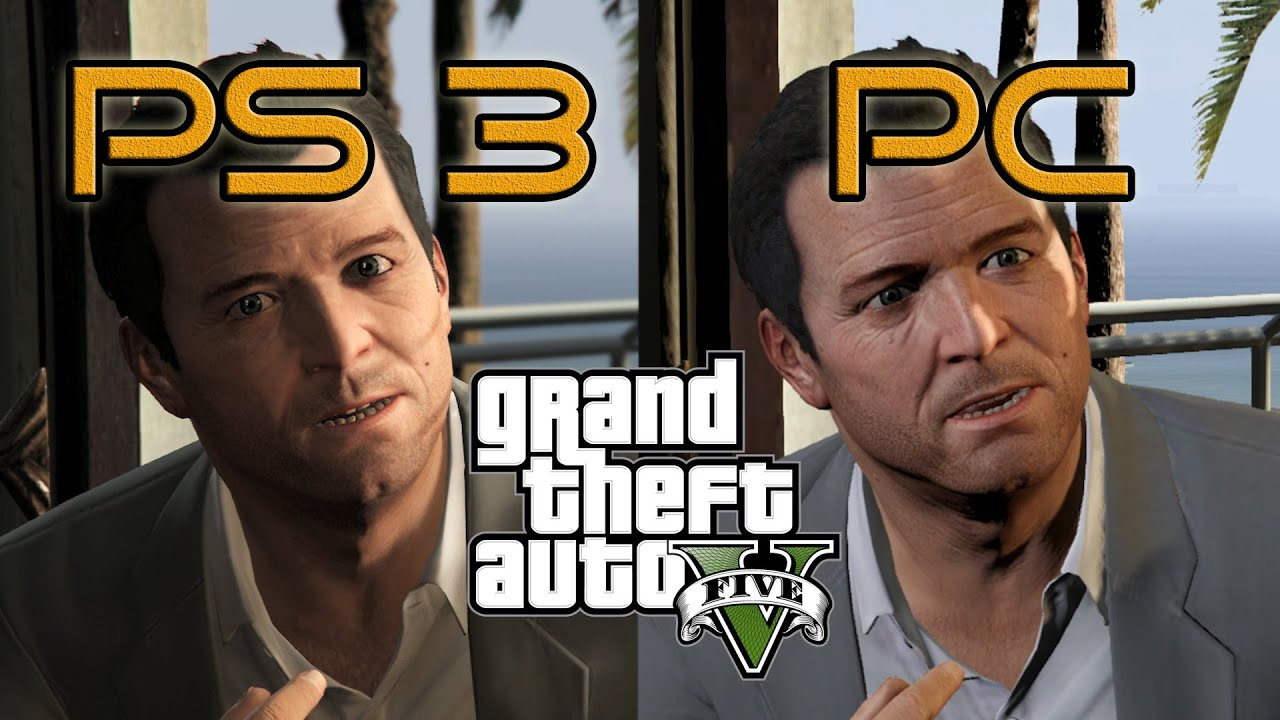 GTA 5 - PS3 vs PC (Titan X) Graphics Comparison (Textures, Tessellation)