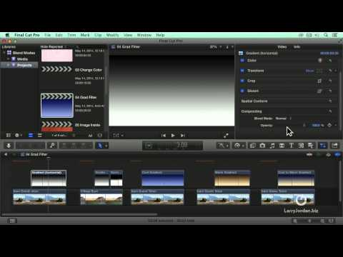 Using The Grad Filter In Final Cut Pro X