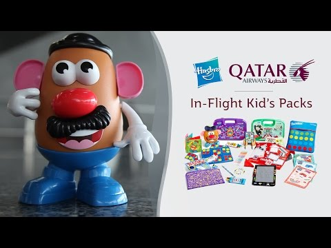 Mr. Potato Head Goes on Holiday - Qatar Airways and Hasbro In-Flight Kid's Packs