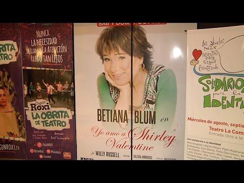 "Betiana Blum protagoniza el unipersonal ""Yo amo a Shirley Valentine"""