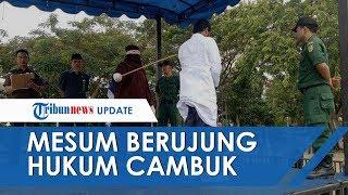 Kepergok Mesum Di Hotel, Kepala Sekolah Dan Wakilnya Dihukum Cambuk, Digerebek Suami Sendiri