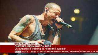 Linkin Park Singer Chester Bennington Dead, Commits Suicide by Hanging   BBC NEWS