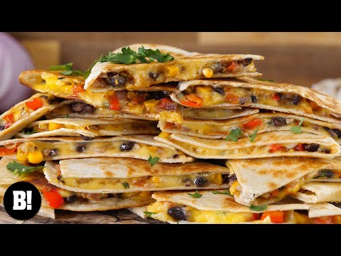 EASY, CHEESY QUESADILLAS | BOSH! | VEGAN