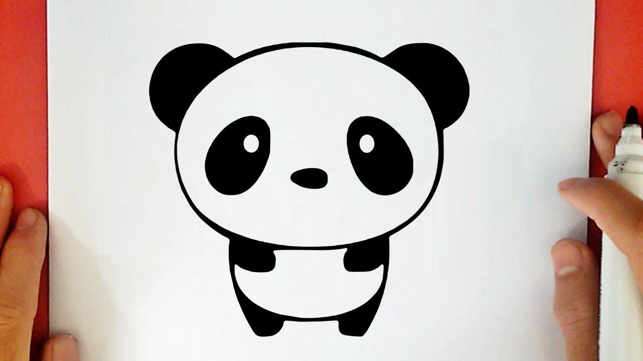 Como Dibujar Un Panda Kawaii Youtube