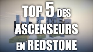 TOP 5 DES ASCENSEURS REDSTONE (FR) Minecraft 1.10