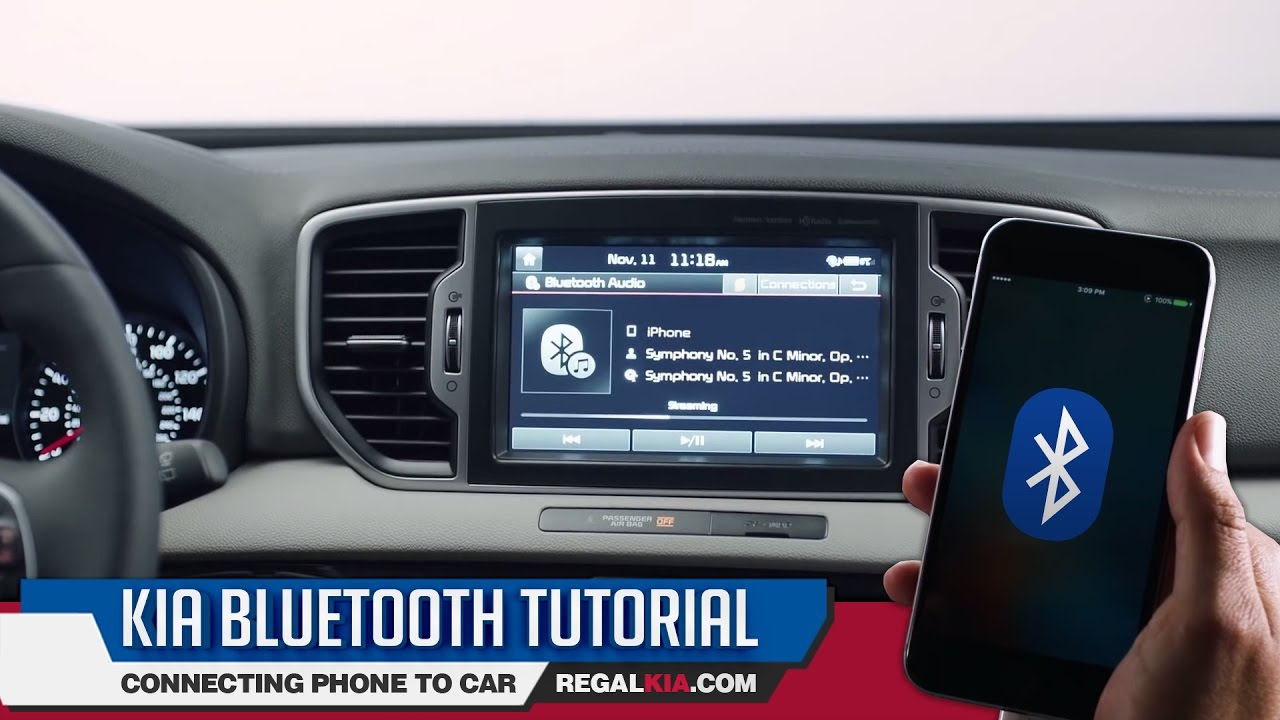 kia bluetooth tutorial how to connect phone to car youtube. Black Bedroom Furniture Sets. Home Design Ideas