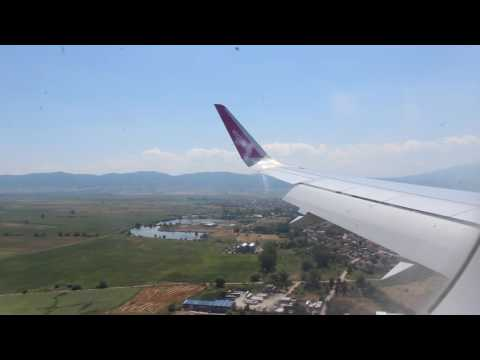 Wizzair A320-200 landing in Sofia, Bulgaria