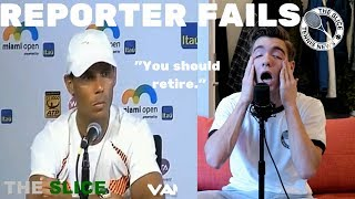 Tennis Players vs. Media Stupid Questions | THE SLICE