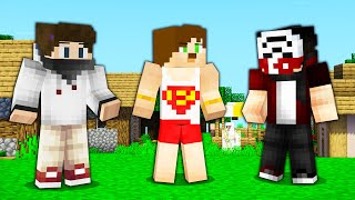 3 PRO YOUTUBER VS 1000 BLOCK PARKUR ! - Minecraft