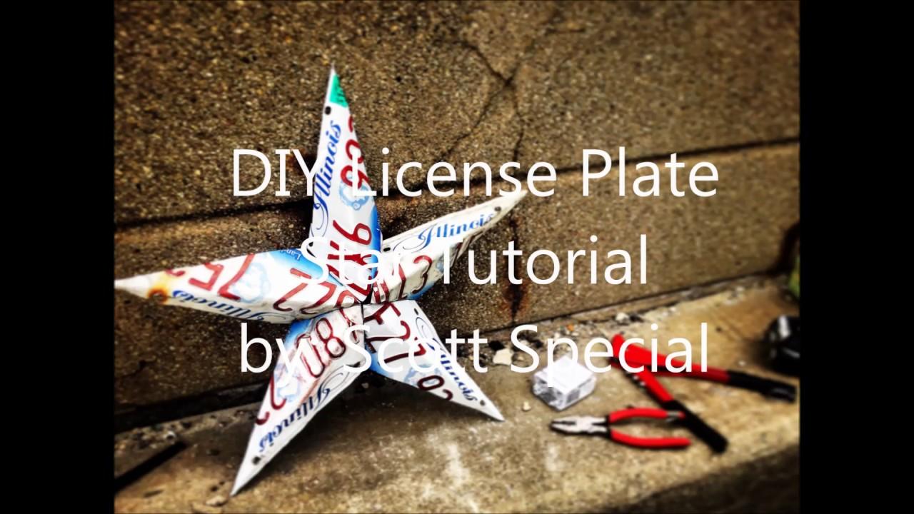 Diy license plate star youtube diy license plate star solutioingenieria Choice Image