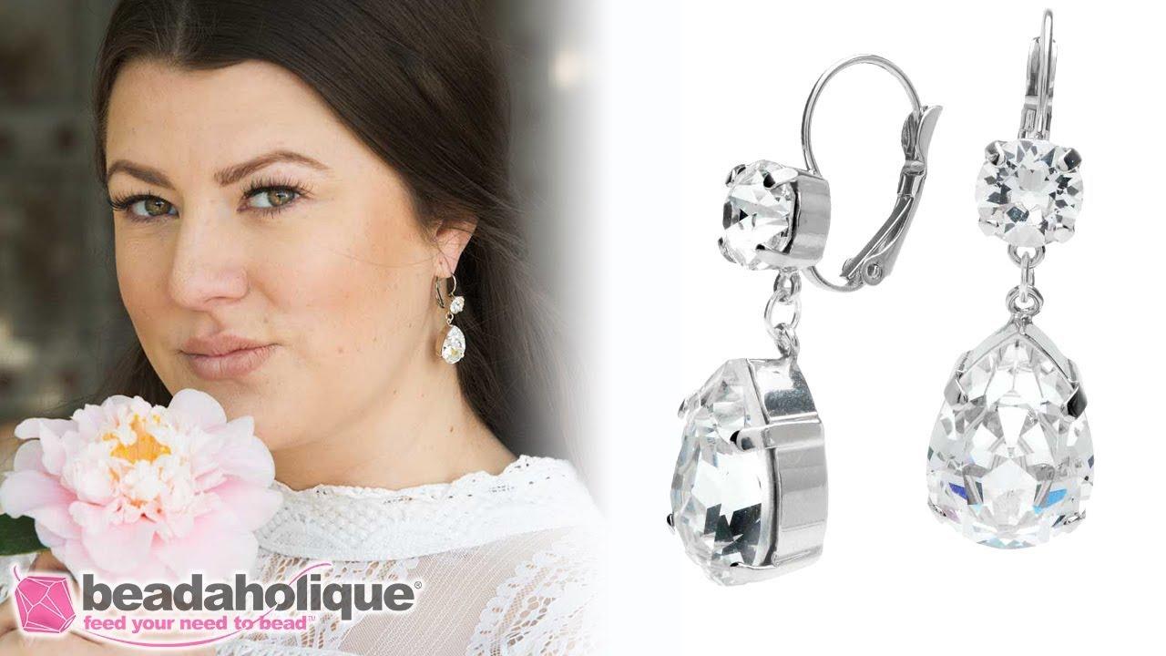 ee05883bd Quick, Easy & Elegant Wedding Jewelry: Bridal Earrings featuring Swarovski  Crystals