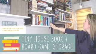 Tiny House Book + Board Game Storage