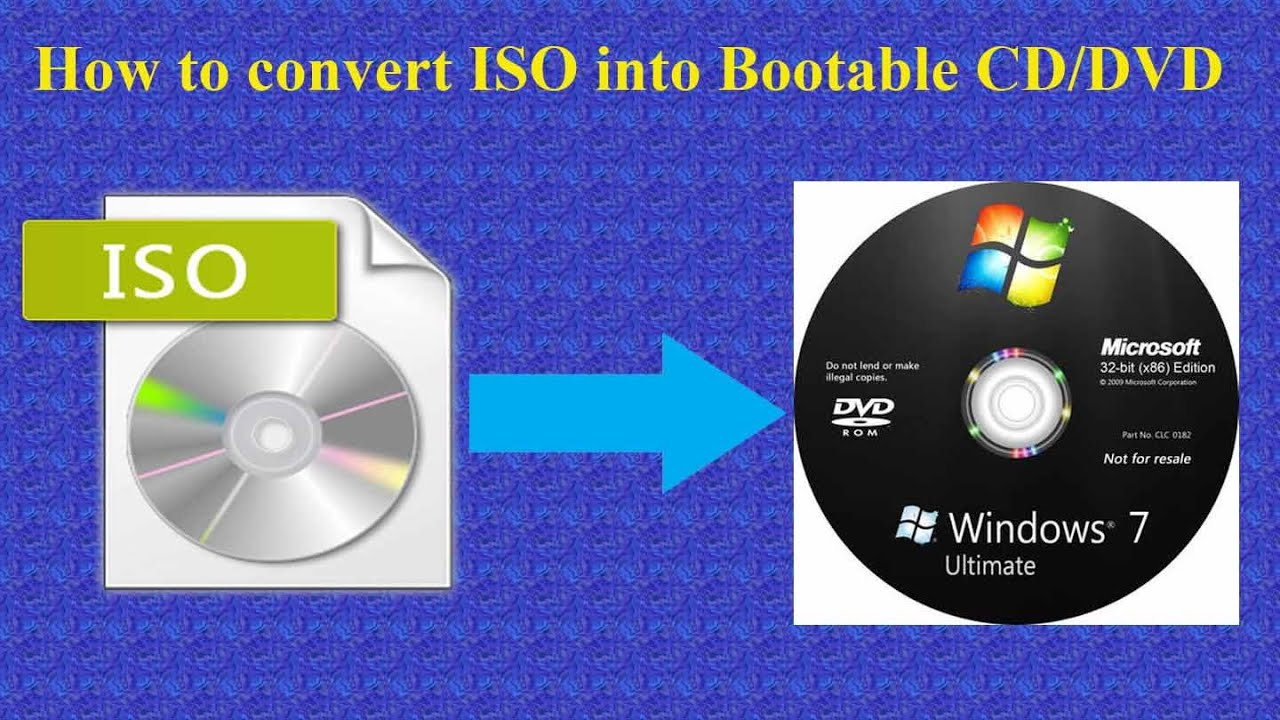 how to convert windows 7 iso image into bootable cd or dvd youtube. Black Bedroom Furniture Sets. Home Design Ideas