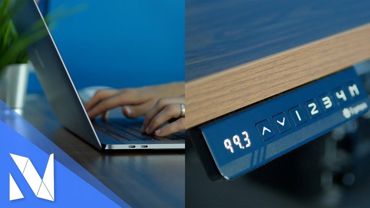 elektrisch h henverstellbarer schreibtisch ergotopia desktopia pro im test nils hendrik. Black Bedroom Furniture Sets. Home Design Ideas