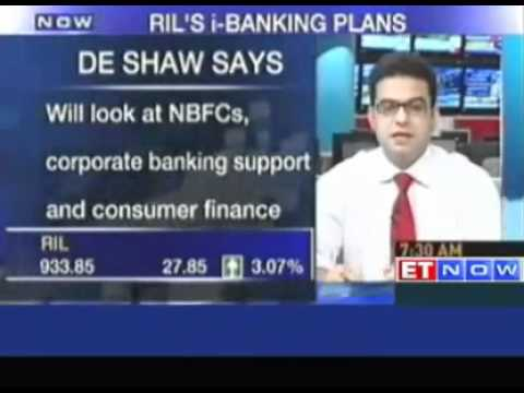 DE Shaw - RIL financial JV aims to rival Banking giants