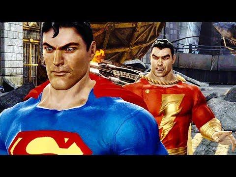 Shazam Warns Superman Scene - MK VS DC