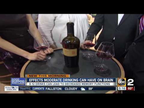 Study: Moderate drinking can damage the brain
