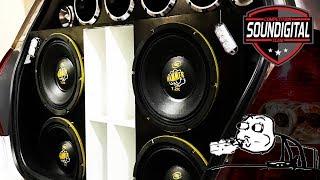 4 Eros Hammer 7.2K + 2 Soundigital SD8000 num HONDA FIT