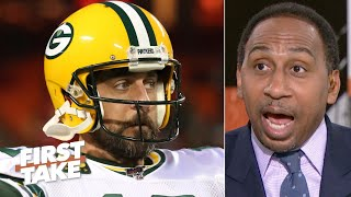 Aaron Rodgers isn't the MVP frontrunner over Russell Wilson - Stephen A. | First Take