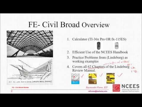 FE Exam Civil Review #1: Ch.1-8 Lindeburg [part 1]