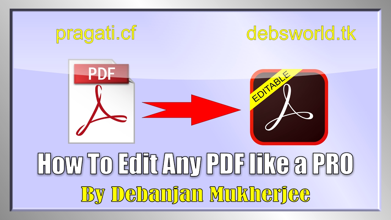 How To Edit Any Pdf Easily Without Changing The Design And Formatting Using  Adobe Acrobat Pro