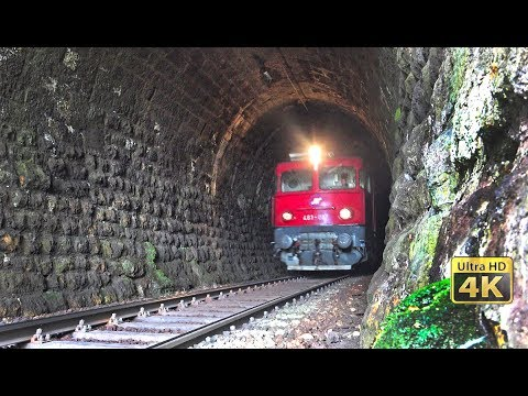 Old and rusty rail tunnels in Serbia - Trains in tunnels [4K]