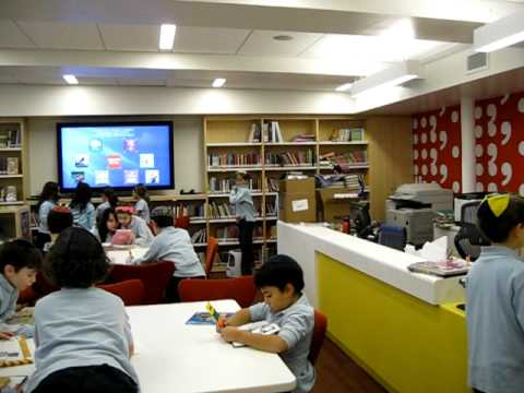 Ramaz Lower School Library Back in Business (1 of 2)