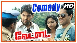 Vettai Tamil Movie   Comedy scenes   Arya   Madhavan   Sameera Reddy   Amala Paul