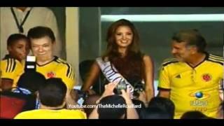 Daniela Alvarez Miss Colombia 2012 en el Partido de la Seleccion Colombia