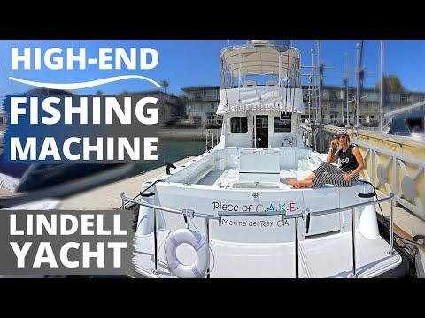 $1,350,000 LINDELL 46F Fishing YACHT WALKTHROUGH & SPECS / Unique Layout Flybridge Cockpit Boat Tour