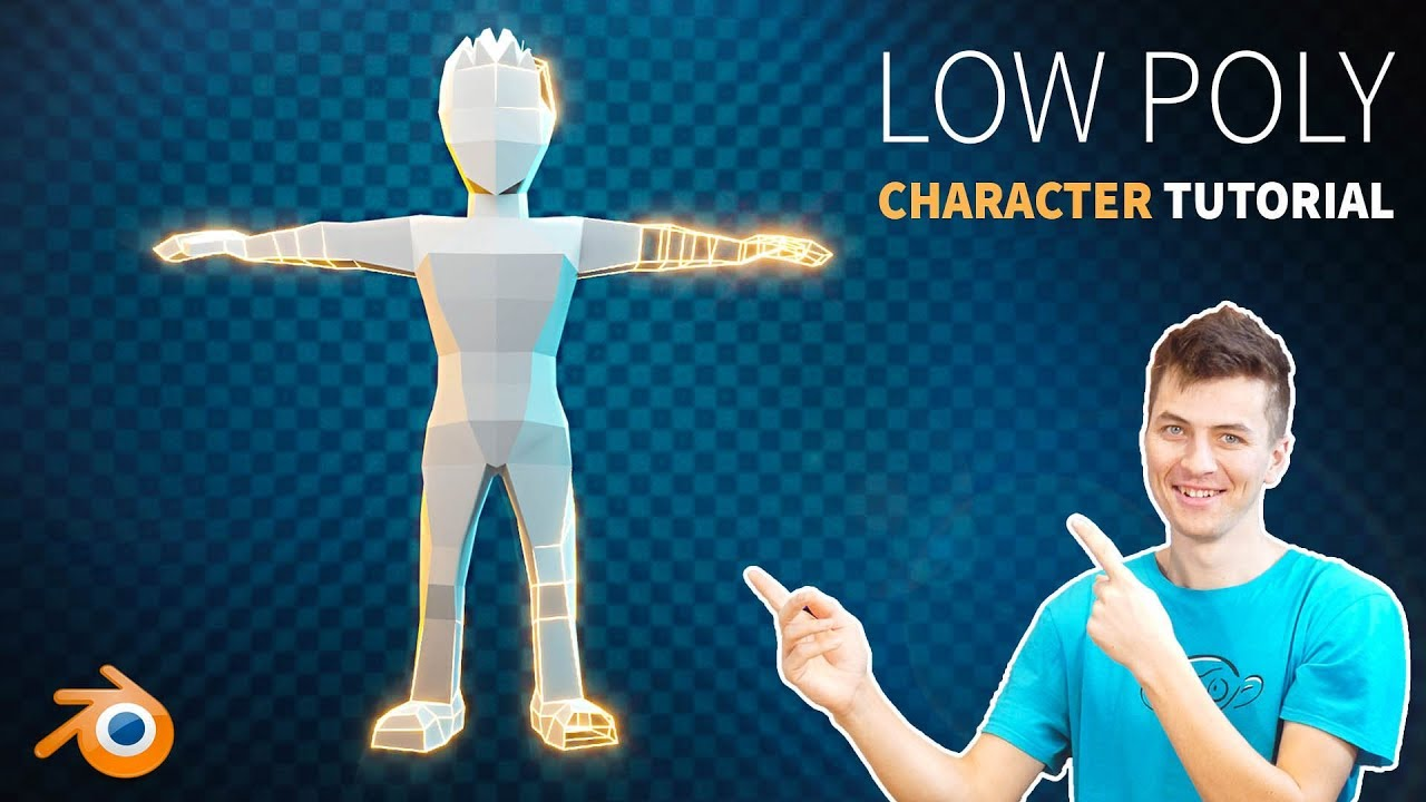 How to Create a Low Poly Character in Blender 2 8