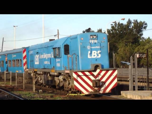 Locomotora: GE U-12 #F616 - LBS pasando por la estación: Ing. Castello.