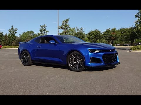 2017 Chevrolet Chevy Camaro ZL1 in Hyper Blue & Engine Sound on My Car Story with Lou Costabile