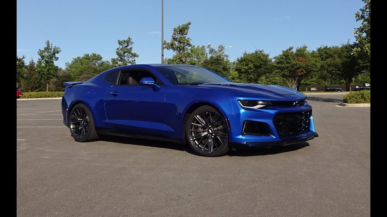2017 Chevrolet Chevy Camaro Zl1 In Hyper Blue Amp Engine