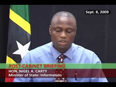 St. Kitts & Nevis Post-Cabinet Statement by Nigel Carty (Sept 8, 2009)