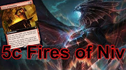 5 Color Fires of Invention Gameplay in Throne of Eldraine Standard (#sponsored ELD event)