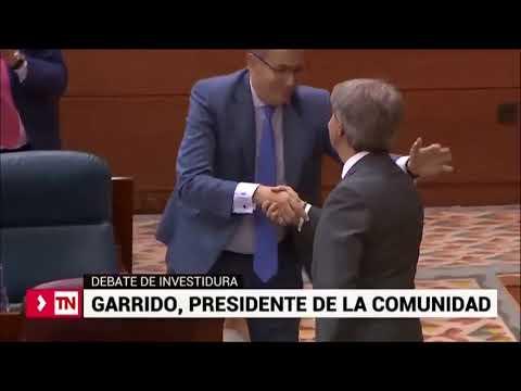 Angel Garrido, investido presidente de la Comunidad de Madrid con los votos de PP y Cs