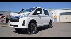 Bus 4x4 Conversion of Toyota 300 Series Hiace Crew Van - Test Drive