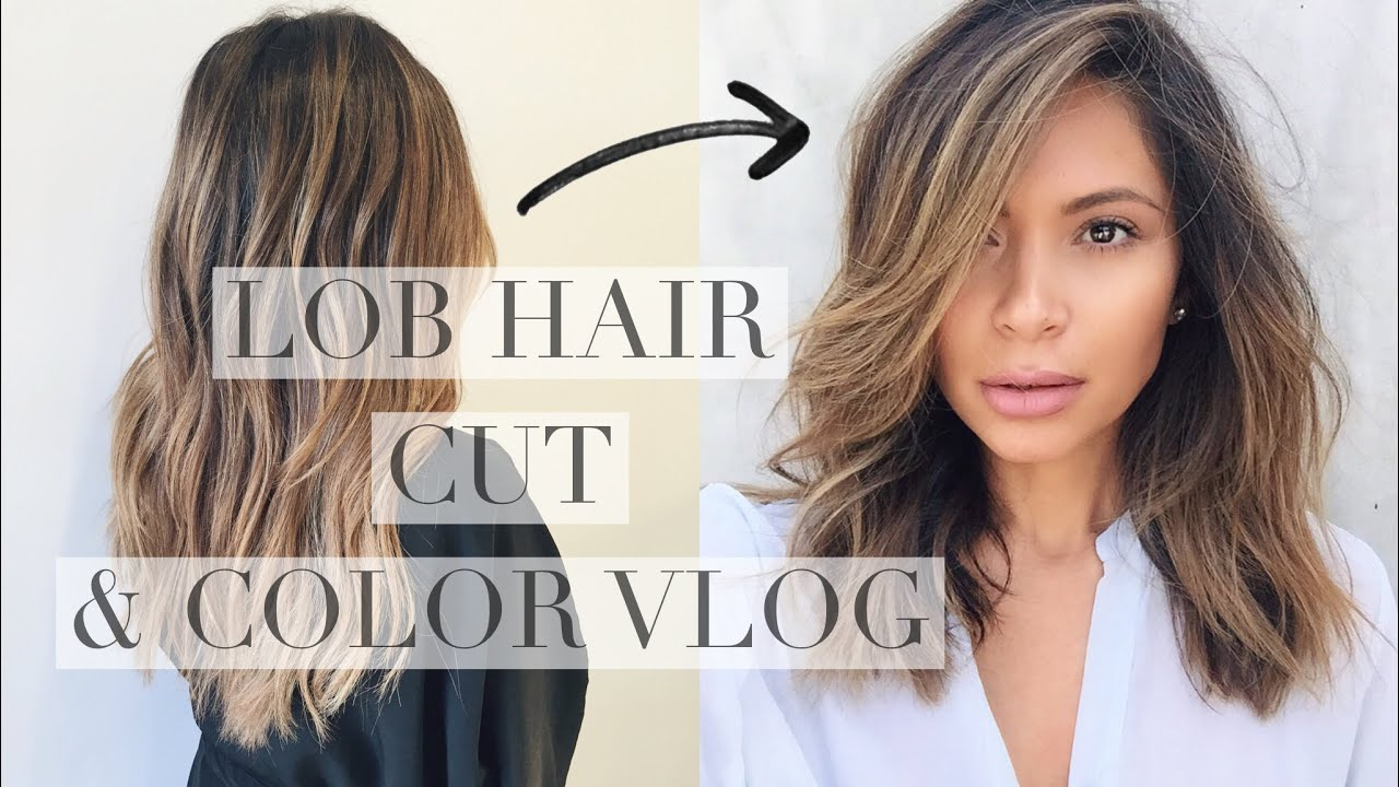 LOB & BALAYAGE CUT AND COLOR - YouTube