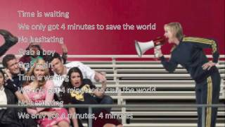 Glee 4 Minutes with lyrics NEW SONG