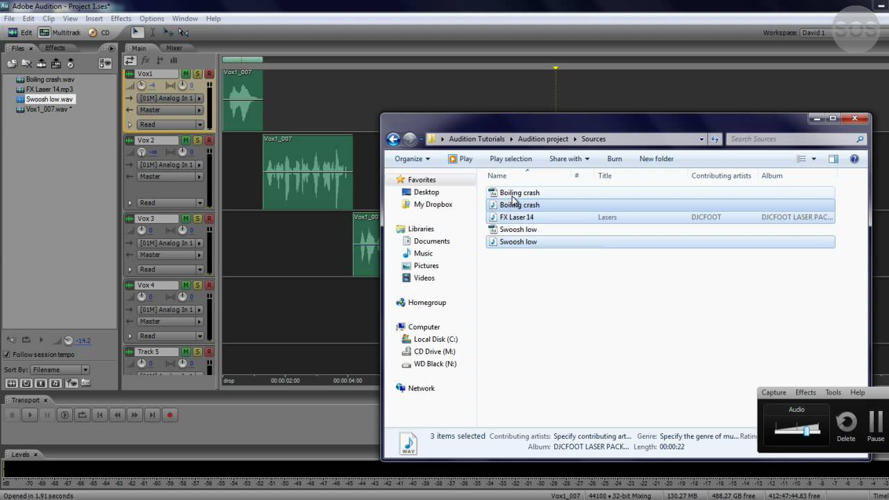 adobe audition tutorial 8 applying effects 1 3 youtube. Black Bedroom Furniture Sets. Home Design Ideas